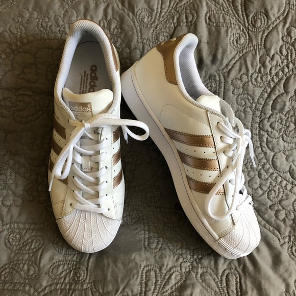 f14babcae78b adidas Shoes - ADIDAS Superstar white rose gold sneakers LIKE NEW